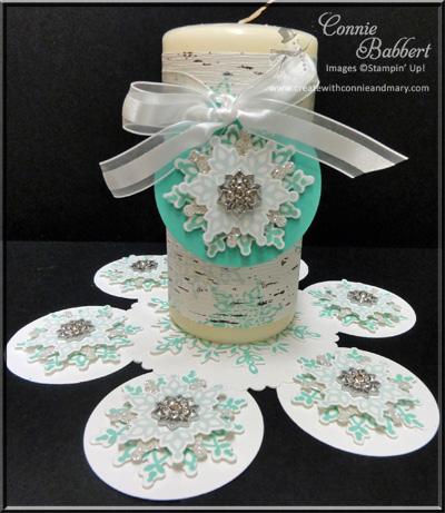 Festive Flurry Candle Mat