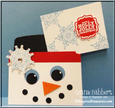 Snowman Gift Card holder inside