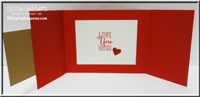 Love You More tri fold inside