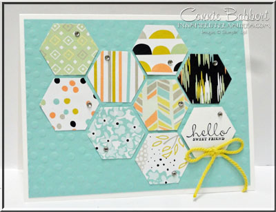Sweet Sorbet Hexagon Card