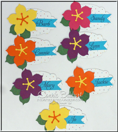Hibiscus Flower Name Tags