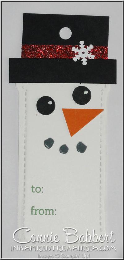 Snowman Tag closeup