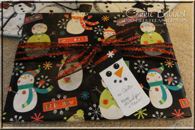 Snowman Tag gift