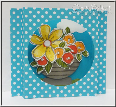 Garden in Bloom Shadow Box Card