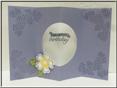 Birthday Blossoms Tunnel Card inside