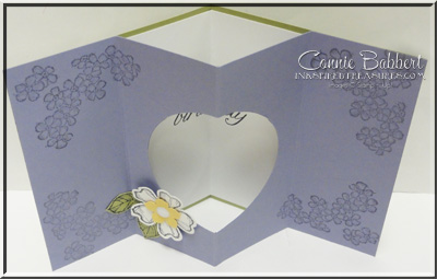 Birthday Blossoms Tunnel Card top