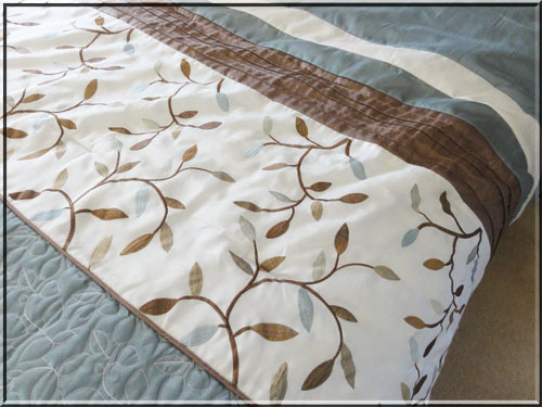 Lighthearted Leaves Sept 2015 bedspread
