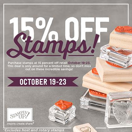 Stamp sale 15 off
