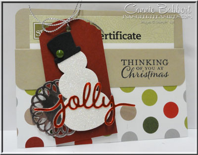CCMC Saturday Blog Hop – Gift Card Holder