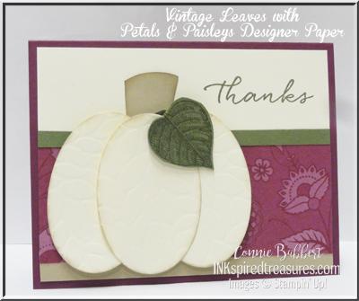 Embossed Pumpkin Card
