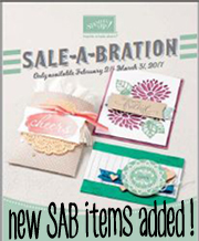 Sale-A-Bration 2nd release by Stampin Up