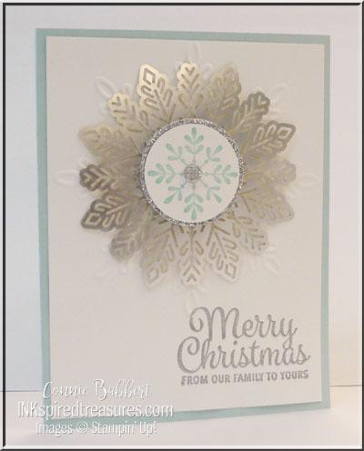CCMC Saturday Blog Hop – Blue/White/Silver Card