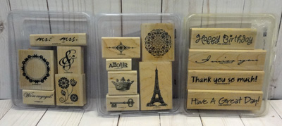 Updated!  Stamp Sets for Sale!