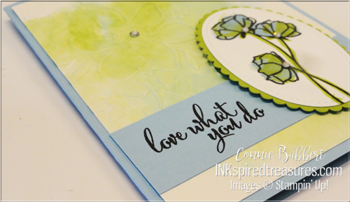 Stampin Up Love What You Do closeup