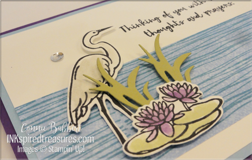 Stampin Up Lilypad Lake closeup