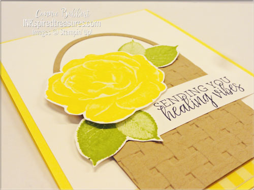 Stampin Up Healing Hugs closeup