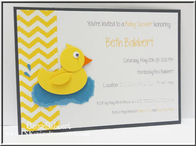 ... Done With Gray Wallsu2026they Will Add The Appropriate Colors After The Baby  Is Born! I Decided To Use Daffodil Delight And Basic Gray For Her  Invitations.