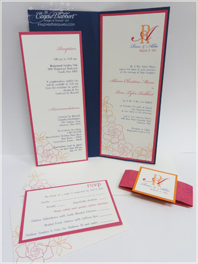 here is the assembly of all the invitations quite a project - Wedding Invitation Assembly