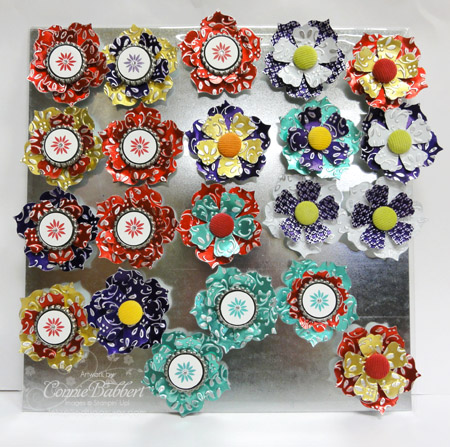 Inkspired Treasures » Blog Archive » Metal Sheets Flower Magnets